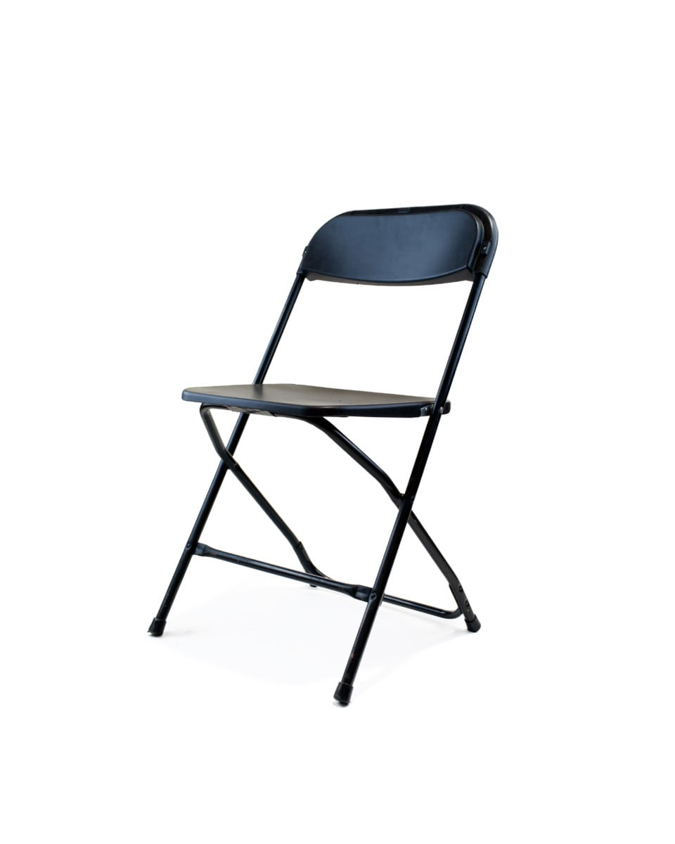 Plastic Folding Chairs – Black $1 25