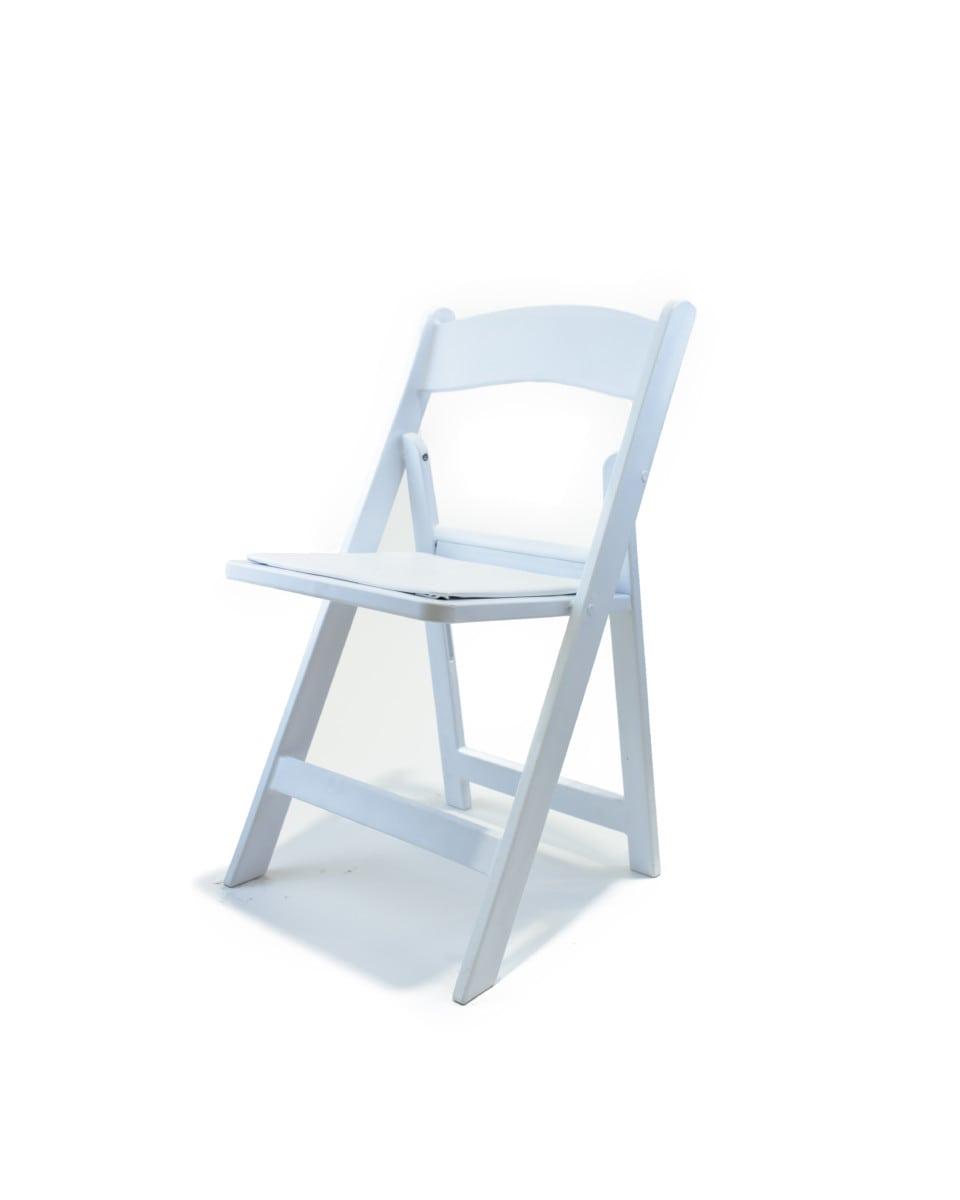 Garden Chairs - White $2.25